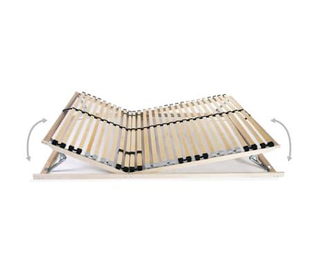 vidaXL Stelaż do łóżka z 28 listwami, drewno FSC, 7 stref, 100x200 cm[2/8]