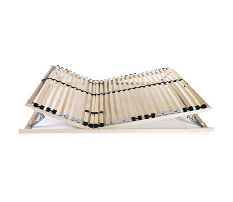 vidaXL Stelaż do łóżka z 28 listwami, drewno FSC, 7 stref, 100x200 cm[4/8]