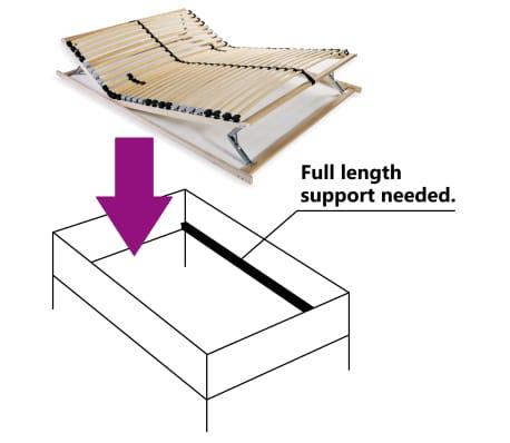 vidaXL Stelaż do łóżka z 28 listwami, drewno FSC, 7 stref, 100x200 cm[5/8]