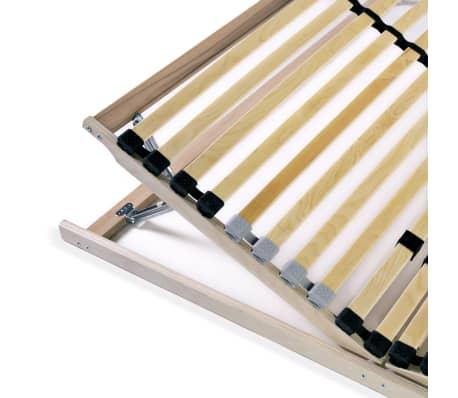 vidaXL Stelaż do łóżka z 28 listwami, drewno FSC, 7 stref, 100x200 cm[7/8]