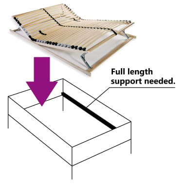 vidaXL Slatted Bed Base with 28 Slats 7 Zones 100x200 cm FSC[5/8]