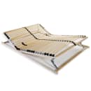 vidaXL Grotelės lovai su 28 lentjuostėmis, 7 zonos, 120x200cm, FSC
