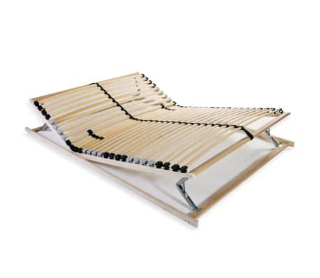 Vidaxl Stelaż Do łóżka Z 28 Listwami Drewno Fsc 7 Stref 140x200 Cm