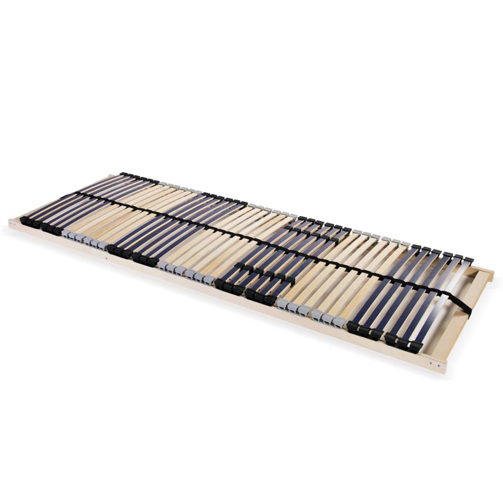 vidaXL Τελάρο Κρεβατιού με 42 Σανίδες & 7 Ζώνες 80 x 200 εκ. Ξύλο FSC