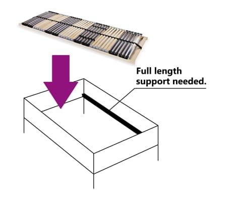 vidaXL Grotelės lovai su 42 lentjuostėmis, 7 zonos, 80x200cm, FSC[3/7]