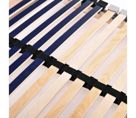 vidaXL Grotelės lovai su 42 lentjuostėmis, 7 zonos, 80x200cm, FSC[7/7]