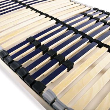 vidaXL Grotelės lovai su 42 lentjuostėmis, 7 zonos, 80x200cm, FSC[5/7]