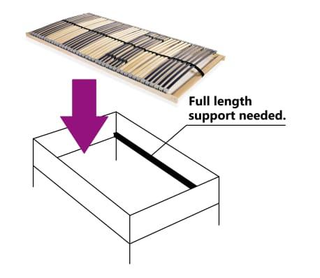 vidaXL Grotelės lovai su 42 lentjuostėmis, 7 zonos, 140x200cm[3/7]