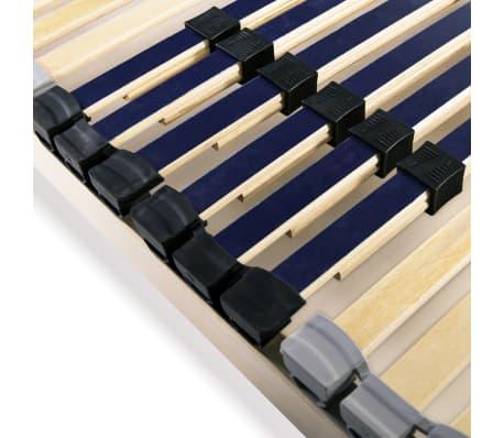 vidaXL Grotelės lovai su 42 lentjuostėmis, 7 zonos, 140x200cm[5/7]