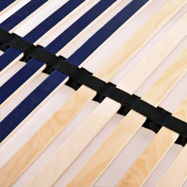 vidaXL Grotelės lovai su 42 lentjuostėmis, 7 zonos, 140x200cm[7/7]