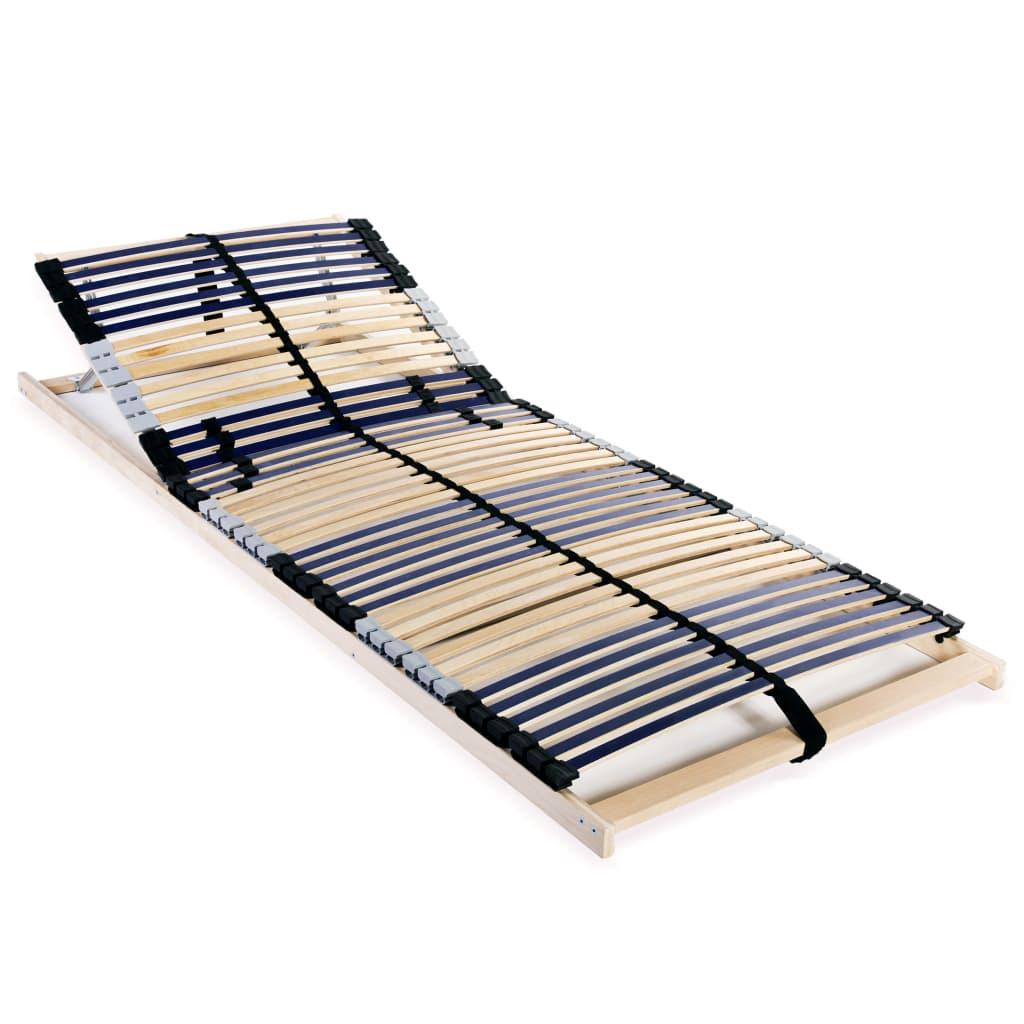 vidaXL Bază de pat cu șipci, 42 șipci, 7 zone, 70 x 200 cm poza vidaxl.ro