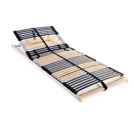 vidaXL Grotelės lovai su 42 lentjuostėmis, 7 zonos, 80x200cm