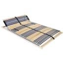 vidaXL Grotelės lovai su 42 lentjuostėmis, 7 zonos, 120x200cm, FSC