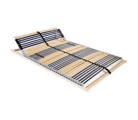 vidaXL Sängyn sälepohja 42 säleellä 7 vyöhykettä 140x200 cm