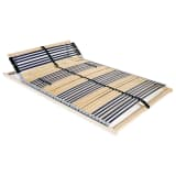 246472 vidaXL Slatted Bed Base with 42 Slats 7 Zones 140x200 cm FSC