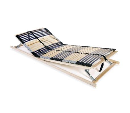 vidaXL Sängyn sälepohja 42 säleellä 7 vyöhykettä 80x200 cm