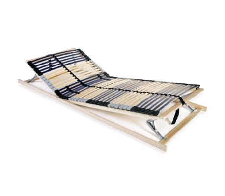 vidaXL Slatted Bed Base with 42 Slats 7 Zones 90x200 cm