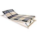 vidaXL Base de lit à lattes avec 42 lattes 7 zones 90 x 200 cm FSC