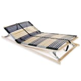vidaXL Slatted Bed Base with 42 Slats 7 Zones 120x200 cm