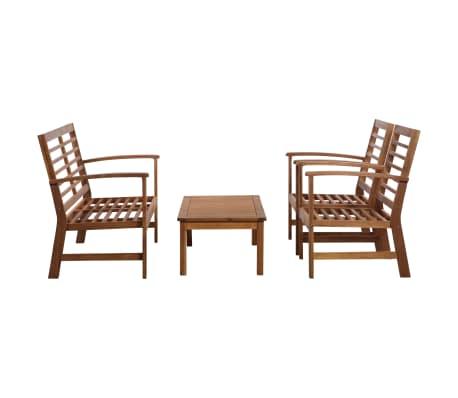 vidaXL 4 Piece Garden Lounge Set Solid Acacia Wood[2/13]