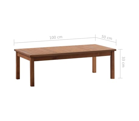 vidaXL 4 Piece Garden Lounge Set Solid Acacia Wood[13/13]