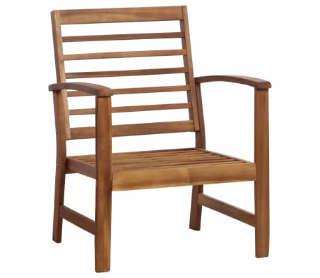 vidaXL 4 Piece Garden Lounge Set Solid Acacia Wood[3/13]