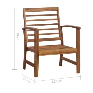 vidaXL 4 Piece Garden Lounge Set Solid Acacia Wood[11/13]