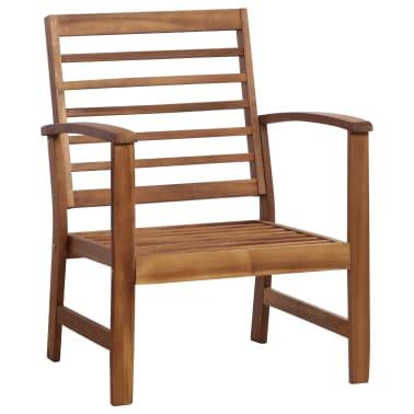 vidaXL 4 Piece Garden Lounge Set Solid Acacia Wood[3/13]