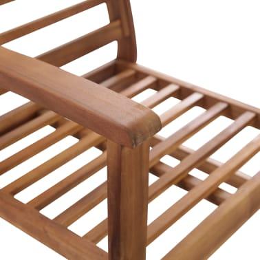 vidaXL 4 Piece Garden Lounge Set Solid Acacia Wood[6/13]
