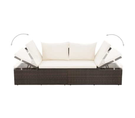 "vidaXL Garden Bed Brown 76.8""x23.6"" Poly Rattan[4/6]"