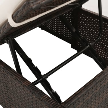 "vidaXL Garden Bed Brown 76.8""x23.6"" Poly Rattan[5/6]"