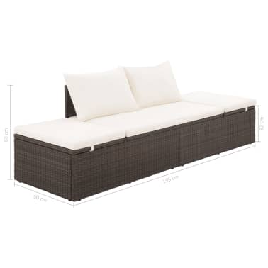 "vidaXL Garden Bed Brown 76.8""x23.6"" Poly Rattan[6/6]"