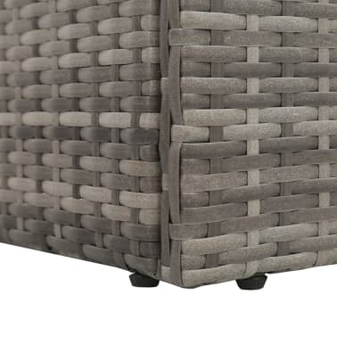 "vidaXL Outdoor Lounge Bed Poly Rattan 76.8""x23.6""x23.6"" Gray[5/6]"