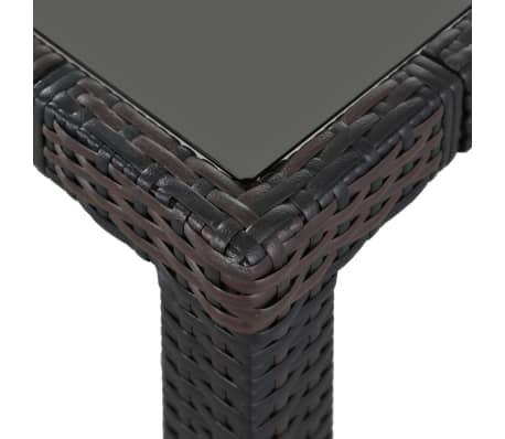 vidaXL Matgrupp för trädgården 9 delar konstrotting brun[5/8]