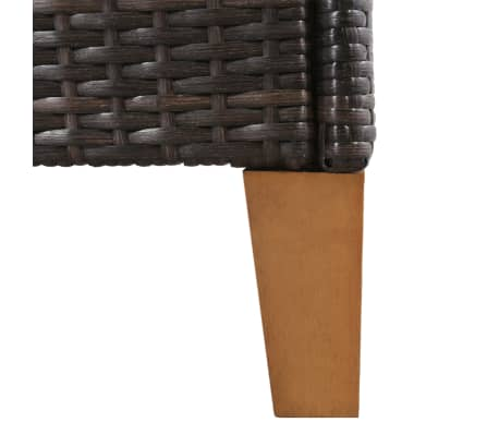 vidaXL 7-daļīgs dārza mēbeļu komplekts, PE pinums, melns, brūns[6/11]