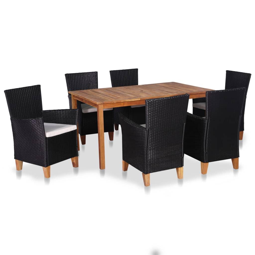 Salle A Manger De Jardin En Resine Tressee détails sur vidaxl mobilier à dîner de jardin 7/9 pcs résine tressée salle  à manger repas