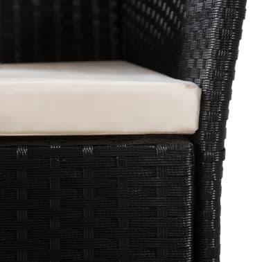vidaXL 9-daļīgs dārza mēbeļu komplekts, PE pinums, melns, brūns[6/8]