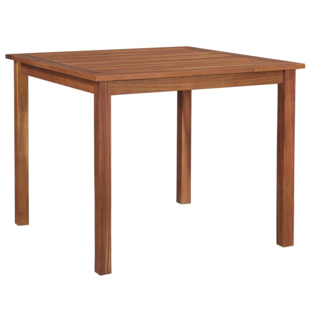 vidaXL Stół ogrodowy, 90x90x74 cm, lite drewno akacjowe