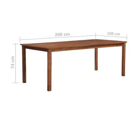 vidaXL Mesa de comedor madera maciza de acacia 200x90x74 cm