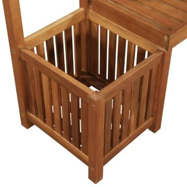 Super Vidaxl Garden Planter With Bench And Trellis Solid Acacia Inzonedesignstudio Interior Chair Design Inzonedesignstudiocom