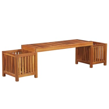Sensational Vidaxl Garden Planter Bench Solid Acacia Wood 70 9X15 7X17 Uwap Interior Chair Design Uwaporg