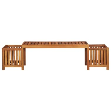 Surprising Vidaxl Garden Planter Bench Solid Acacia Wood 70 9X15 7X17 Uwap Interior Chair Design Uwaporg