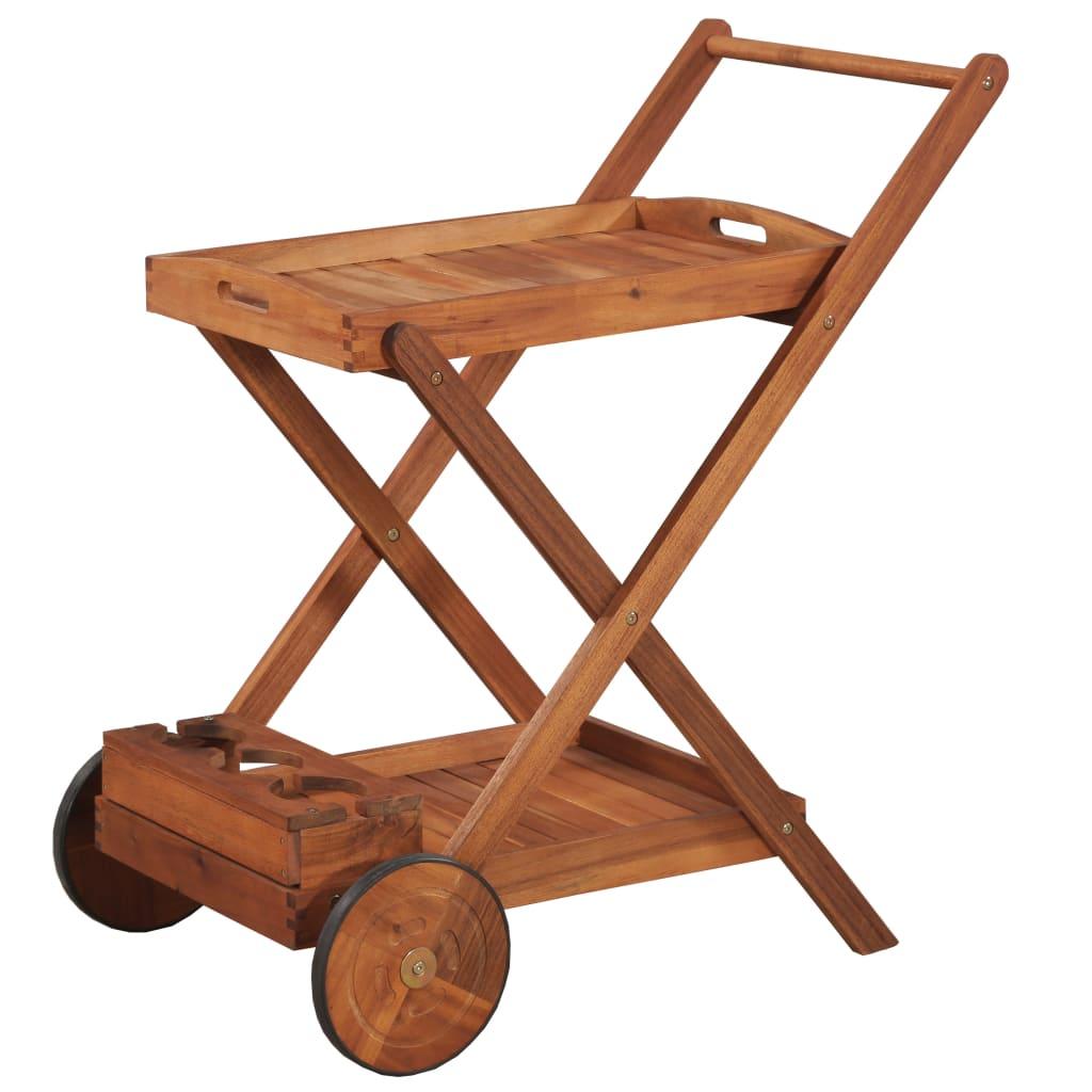 vidaXL Čajový vozík z masivního akáciového dřeva