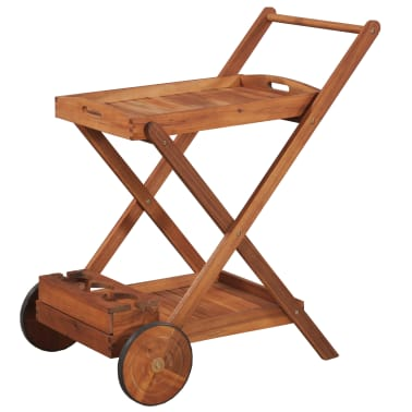 vidaXL Tea Trolley Solid Acacia Wood[1/6]