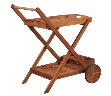vidaXL Tea Trolley Solid Acacia Wood[4/6]