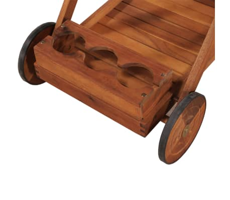 vidaXL Tea Trolley Solid Acacia Wood[5/6]