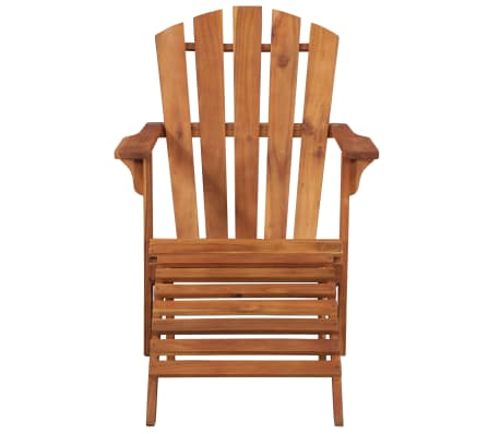 vidaXL Garden Adirondack Chair with Footrest Solid Acacia Wood[2/8]