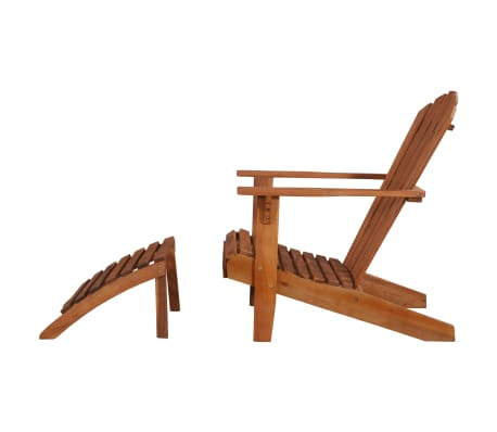 vidaXL Garden Adirondack Chair with Footrest Solid Acacia Wood[6/8]