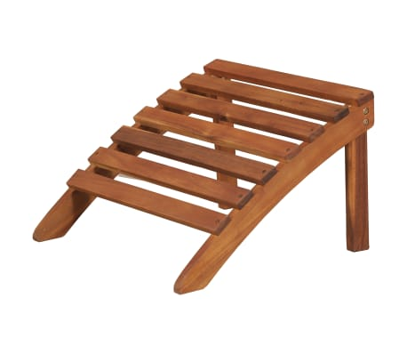 vidaXL Garden Adirondack Chair with Footrest Solid Acacia Wood[7/8]