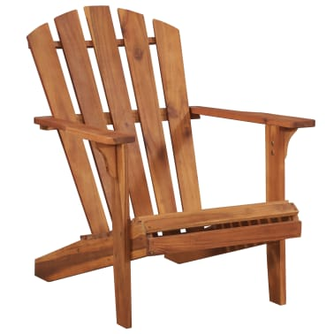 vidaXL Garden Adirondack Chair with Footrest Solid Acacia Wood[4/8]